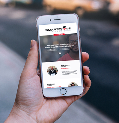 Smartphone Académie - Réalisation du site internet